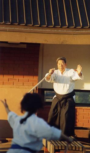 1986 Saito at Collingwood College, Melbourne