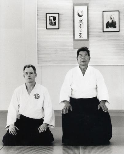 1995 Field Sensei kneeling with Saito Sensei