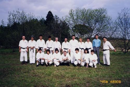 1995 At Shigemi Nakata Sensei's Sunday Class, Iwama.