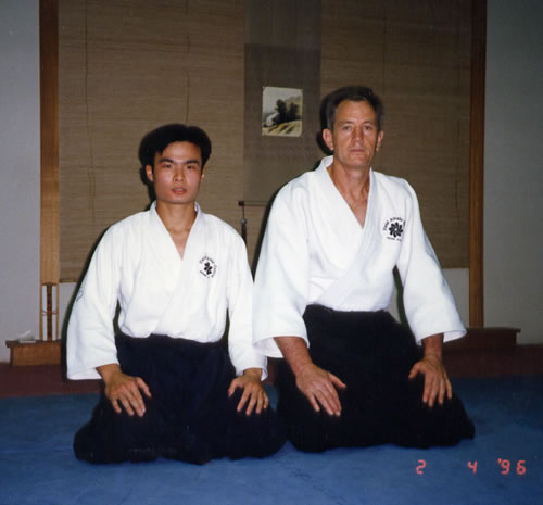 1996 Field Sensei with Deshi David Mok of Malaysia