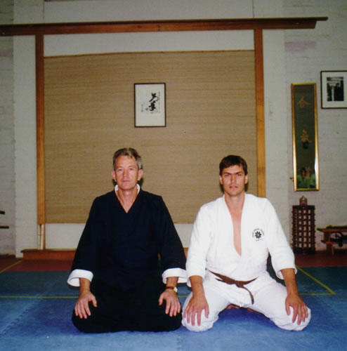 1997 with Chris Noller after his Shodan Test