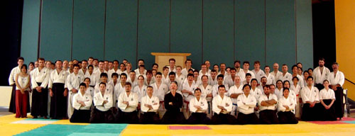 Feburary 2004, All who attended the Kyu Grading