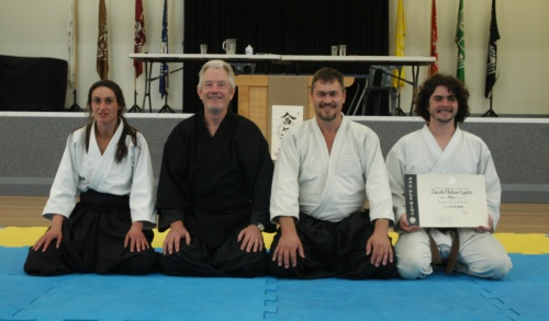 December 2009 Dan Grading Sensei with Grampians Aikido Instructors and new Shodan